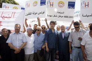 Manifestation des professionnels du tourisme à Tunis