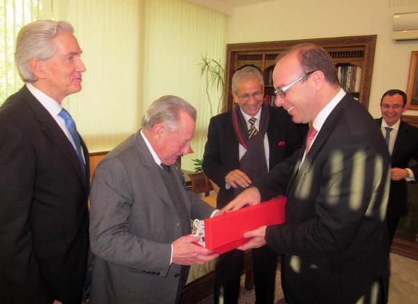 Visite à Tunis de Gérard Pélisson, président cofondateur du groupe Accor