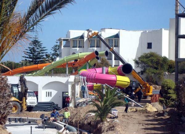 Sousse : l'aquapark du Thalassa prend forme