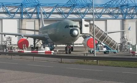 L'avion tout juste sorti de la chaîne de montage