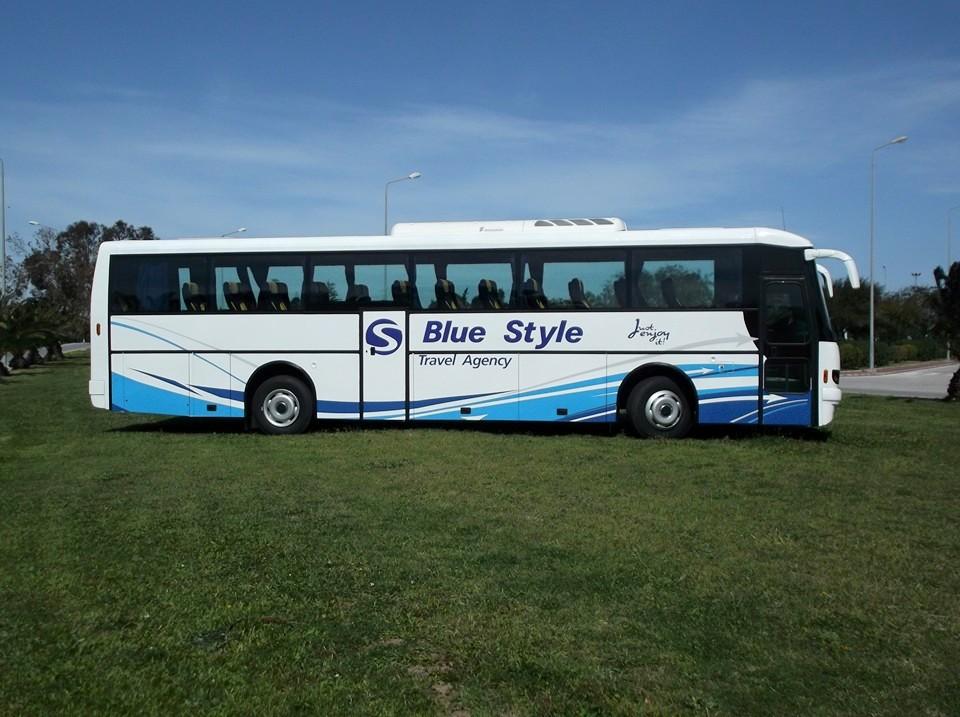 Bus blue style Tunisie république tchèque