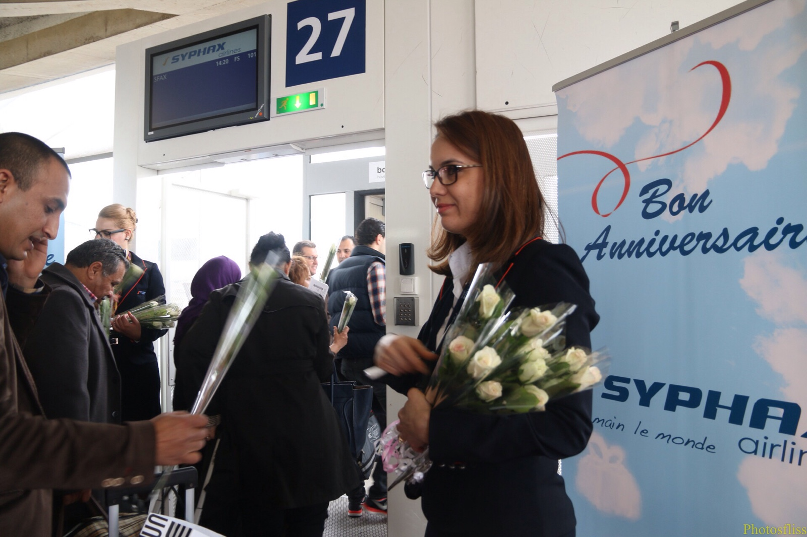 Syphax airlines Tunisie 2015 embarquement