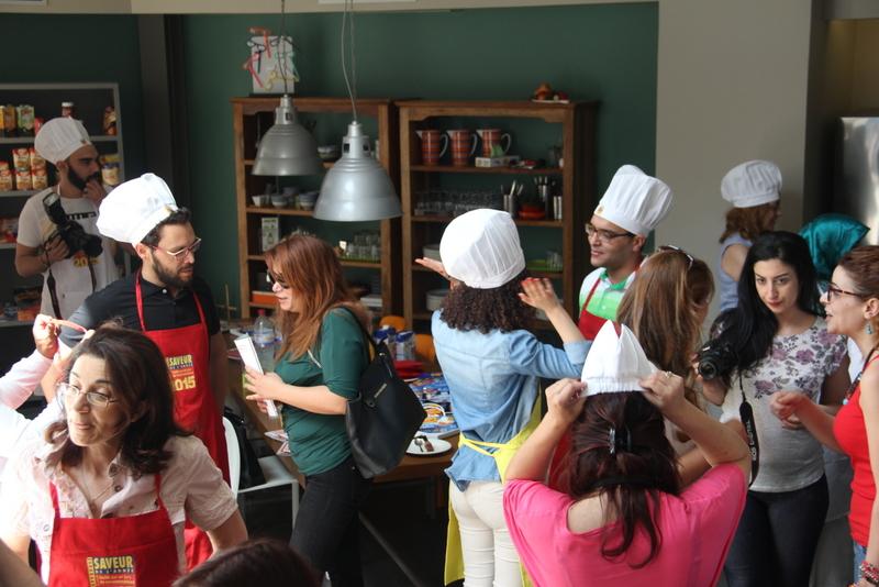 Les invités, tous toqués pour l'occasion, ont pu découvrir les produits Saveurs de l'Année.