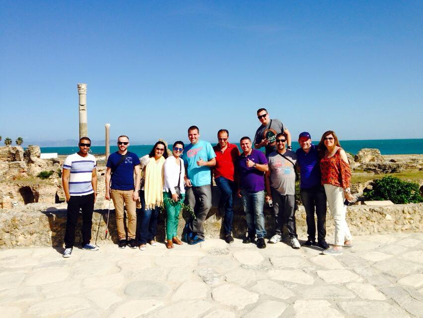 Visite du site archéologique de Carthage par les voyagistes brésiliens.