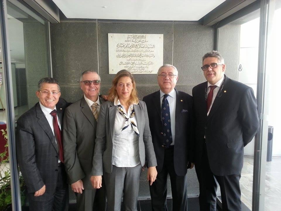 Le management de l'hôtel. De droite à gauche, Adel Gam, Amine Moukarzel, Karima Noureddine et Paul Z. Diab