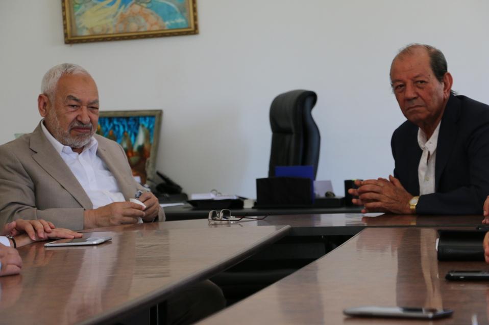 Rached Ghanouchi et Radhouane Ben Salah, président de la FTH.