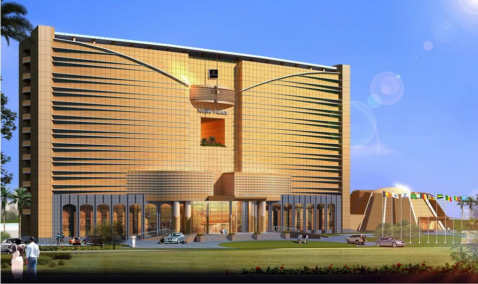 Maquette du futur hôtel Vendôme Toumai Palace à N'Djamena.