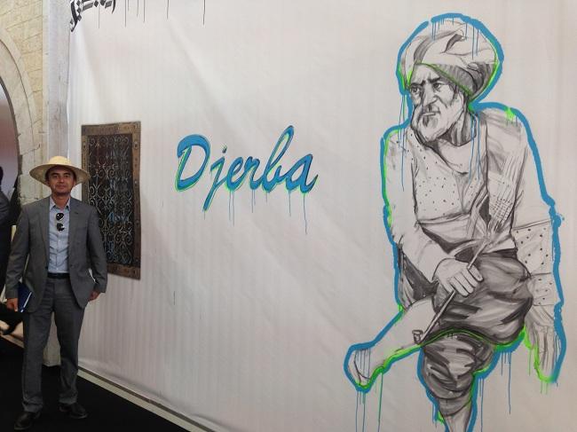 Sur le salon IFTM à Paris, Djerba a eu droit à son propre stand indépendant (25 m²) rassemblant les opérateurs de l'île. Sur la photo,Khaled Rojbi (Tunisie Booking).