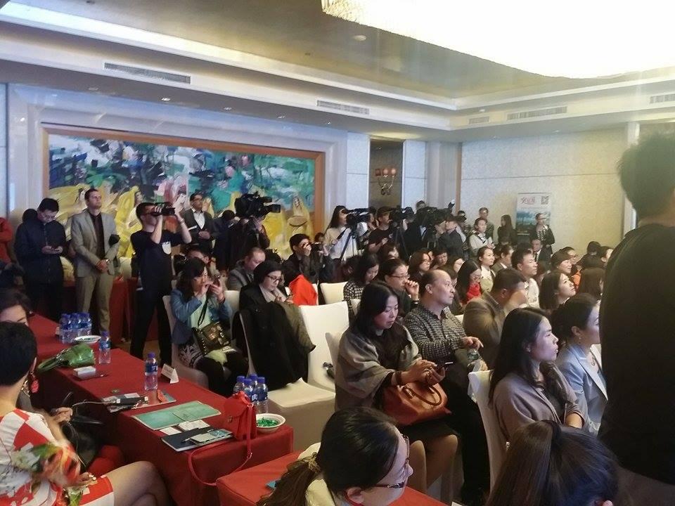 Conférence de presse à Pékin.
