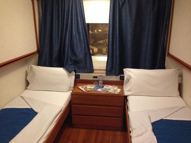 Cabine standard pouvant accueillir jusqu'à 4 personnes.