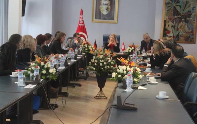 La ministre du Tourisme reçoit des journalistes allemands