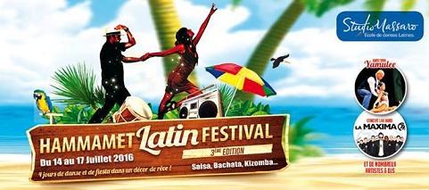 "Hammamet au rythme du ""Latin Festival 2016"""