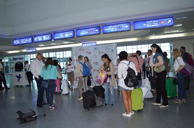 Touristes russes à l'aéroport de Djerba.