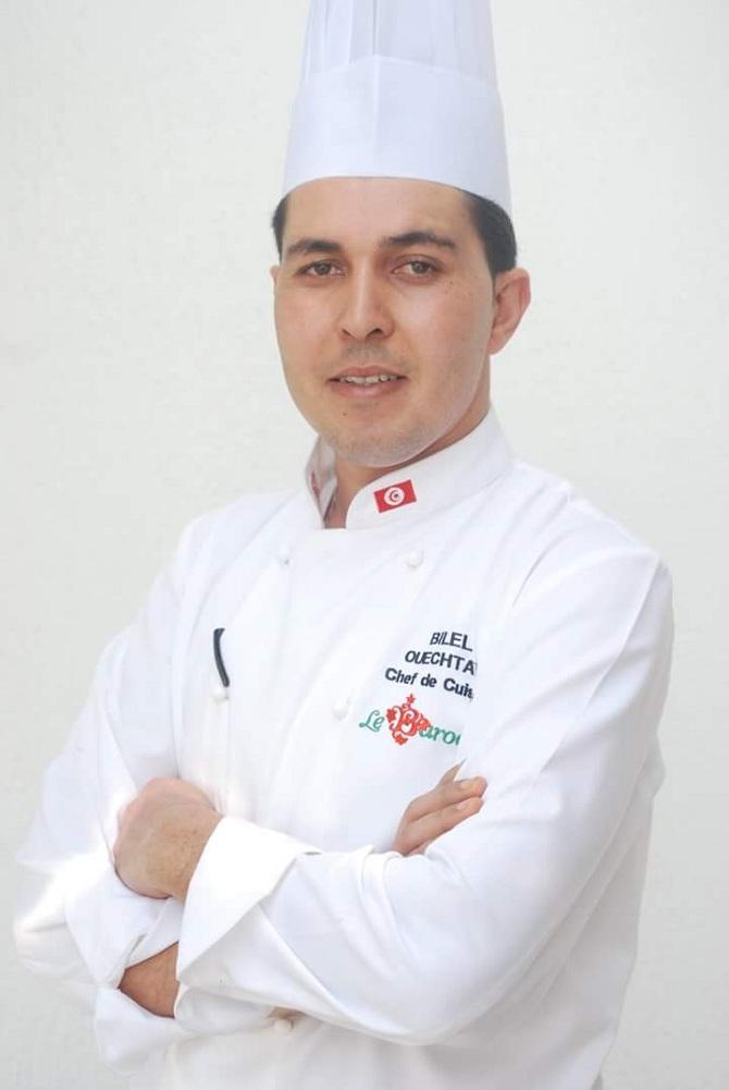 Le chef cuisinier Bilel Ouechtati.
