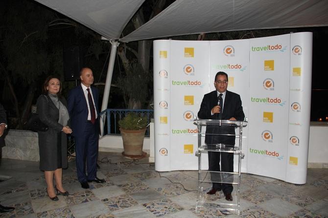 La cérémonie a vu la présence de plusieurs personnalités du monde des affaires et de la finance. Ahmed Karam (au micro), président Association professionnelle tunisienne des banques et des établissements financiers) ou encore Wided Bouchamaoui, présidente de l'UTICA.