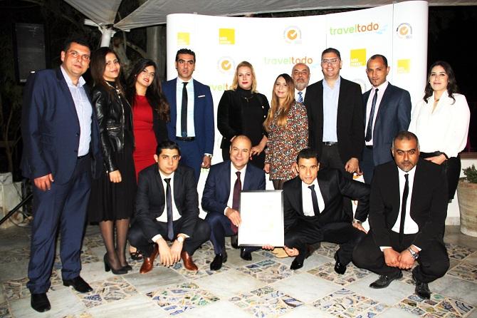 Le Team Traveltodo. Le directeur général de l'agence a tenu, lors de la cérémonie, a remercié toutes ses équipes.