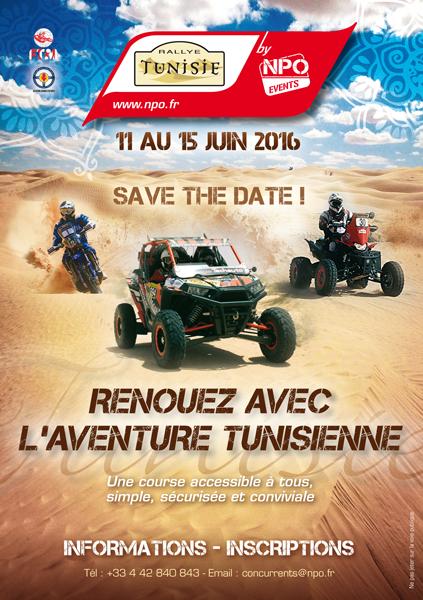 affiche rallye de tunisie 2016