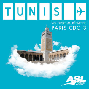 Vol Paris Tunis 2019